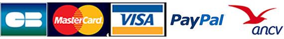 Modes de paiements CB VISA MASTERCARD PAYPAL ANCV