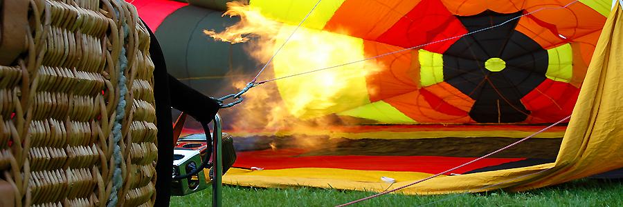 Chauffe de la montgolfiere