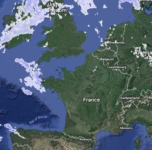 Carte meteox - radar pluie
