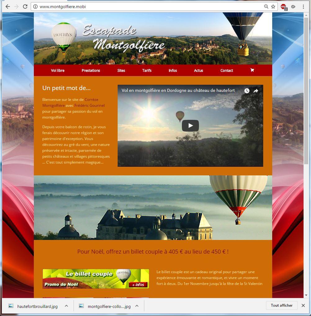 Nouveau site Correze Montgolfieres