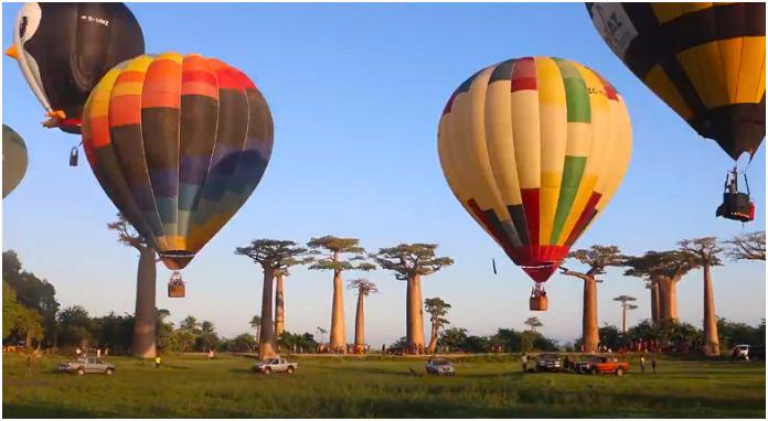 raid de montgolfiere a Madagascar