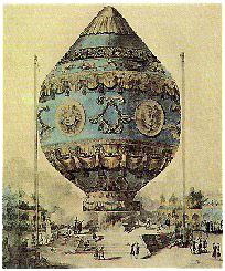 histoire de la montgolfiere - le décollage du premier vol libre humain de l'aérostation