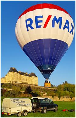 """La montgolfière publicitaire """"REMAX"""""""